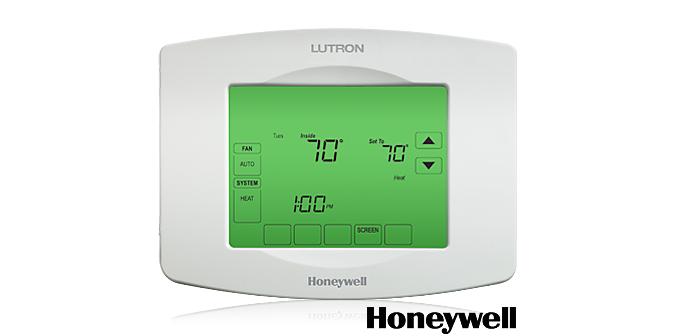 Honeywell Lutron thermostat