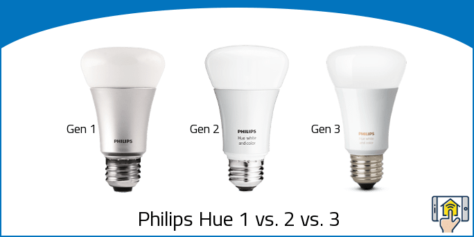 philips hue 1 vs 2 vs 3 generation differences