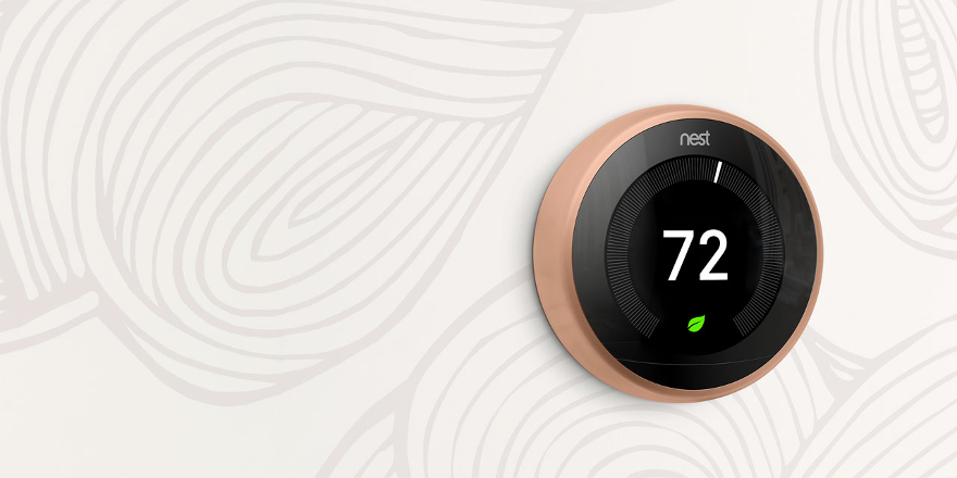 Copper Nest Learning Thermostat