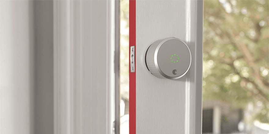 August Smart Lock Pro with green light