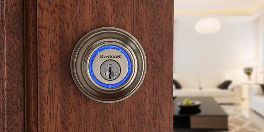 Kwikset Kevo Smart Lock on a door