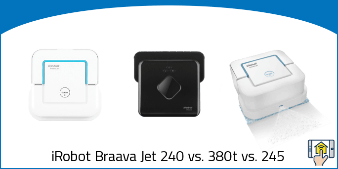 iRobot Braava Jet 240 vs 380t vs 245