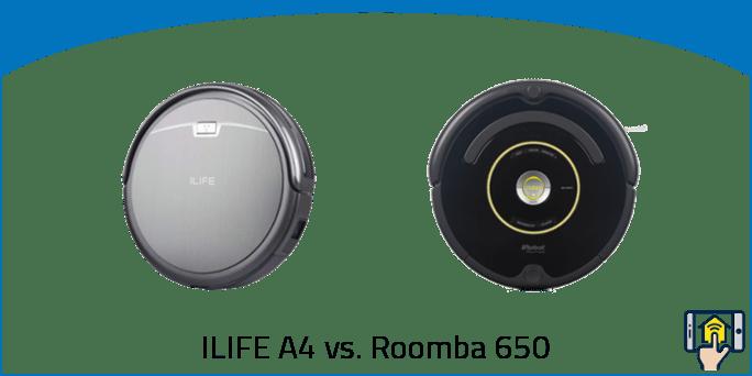 ILIFE A4 vs. Roomba 650