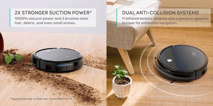 eufy Robovac 11 sensors dirt