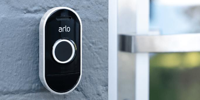 Arlo Audio Doorbell on a wall 2